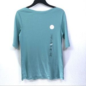 Charter Club NWT Pima Cotton Boat Neck Tee